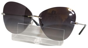 4b24ffc470 Coach New Coach HC 7104 90018G rimless Silver Cat-eye Sunglasses 59-11-
