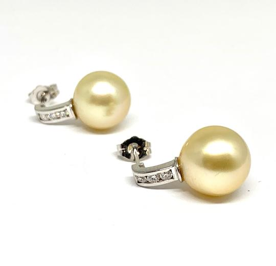 Estate CERTIFIED 3490 South Sea Golden Pearls & Diamond 11.6Mm 14Kt 13262 Image 4