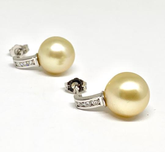 Estate CERTIFIED 3490 South Sea Golden Pearls & Diamond 11.6Mm 14Kt 13262 Image 5
