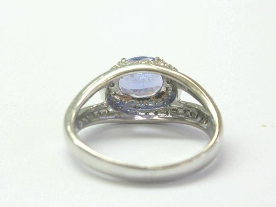 custom Natural Oval Tanzanite & Diamond White Gold Jewelry Ring 2.10Ct 14Kt Image 2