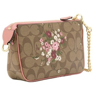 Coach Disney Limited Edition Leather 2017 Cross Body Wristlet in khaki multi