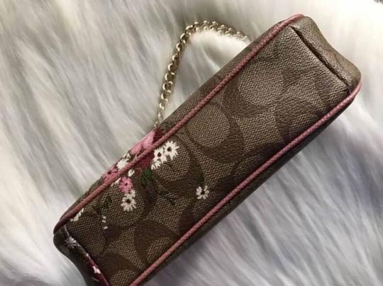 Coach Disney Limited Edition Leather 2017 Cross Body Wristlet in khaki multi Image 3