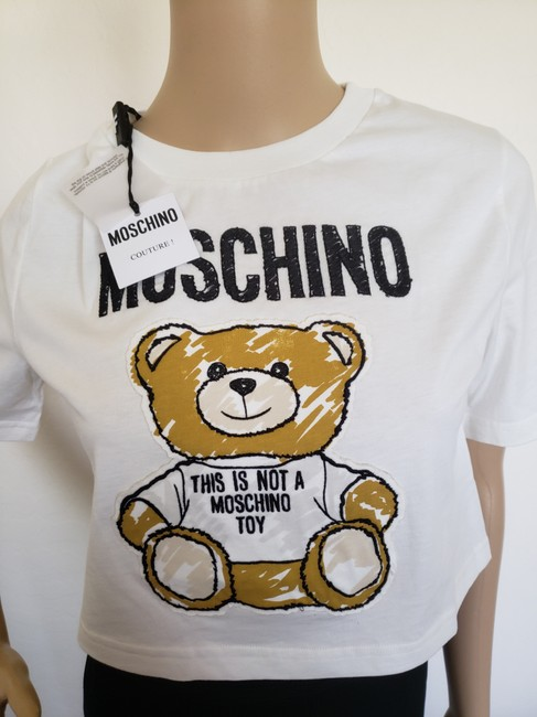 Moschino Monogram Bear Logo Letters Embroidered T Shirt Multicolor Image 11