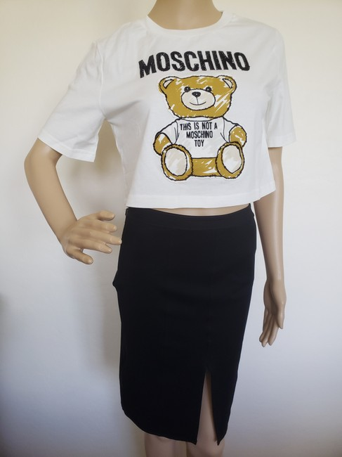 Moschino Monogram Bear Logo Letters Embroidered T Shirt Multicolor Image 3