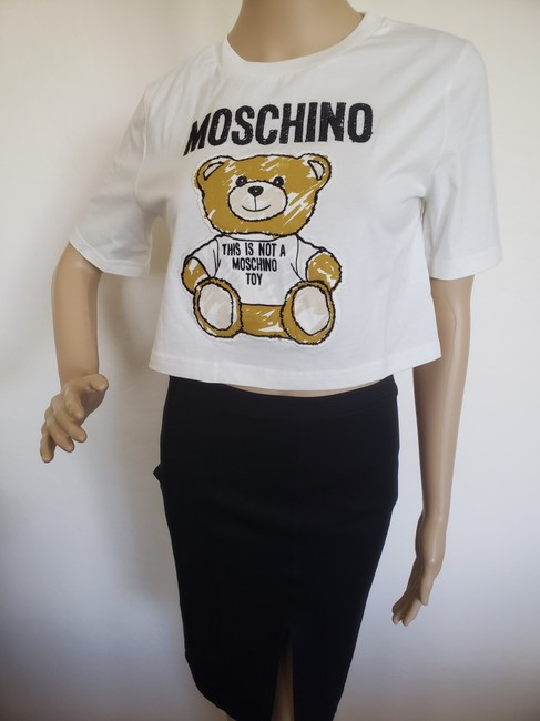 Moschino Monogram Bear Logo Letters Embroidered T Shirt Multicolor Image 5