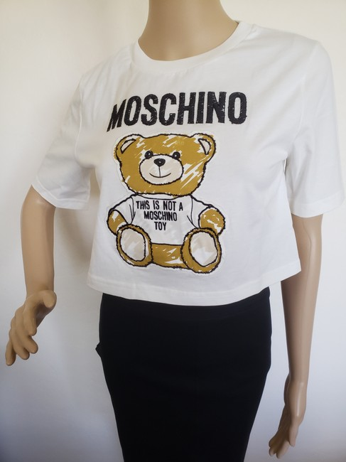 Moschino Monogram Bear Logo Letters Embroidered T Shirt Multicolor Image 6