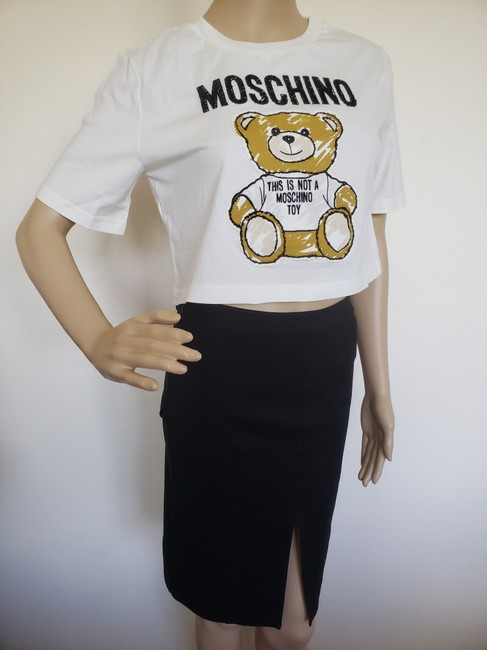 Moschino Monogram Bear Logo Letters Embroidered T Shirt Multicolor Image 7