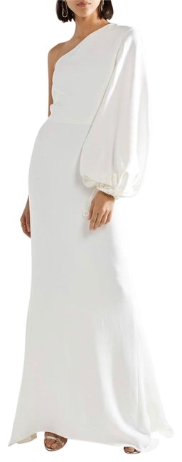 Preload https://img-static.tradesy.com/item/25328716/stella-mccartney-white-one-shoulder-stretch-cady-gown-long-night-out-dress-size-6-s-0-1-650-650.jpg