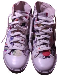 Coach Hi-top Tennis Sneakers White/Multi-Color Athletic