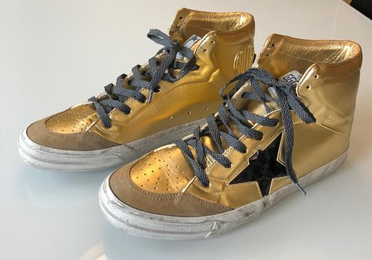Golden Goose Deluxe Brand Gold/Black Athletic Image 1