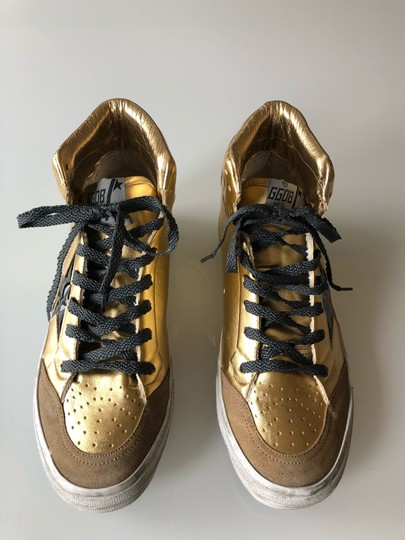 Golden Goose Deluxe Brand Gold/Black Athletic Image 2