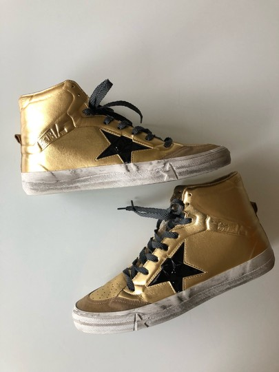 Golden Goose Deluxe Brand Gold/Black Athletic Image 8