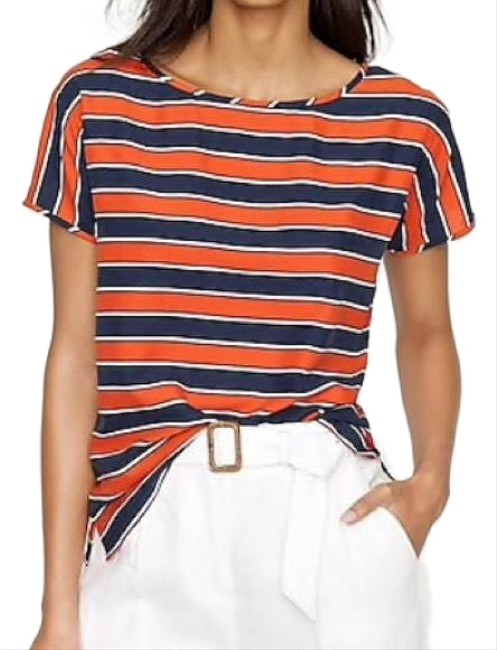 J.Crew Top navy, red, white Image 0