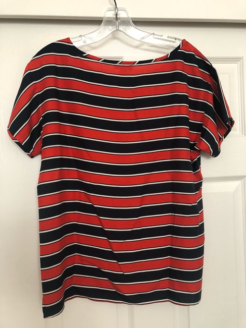 J.Crew Top navy, red, white Image 4