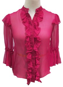 Alice + Olivia Button Down Shirt pink