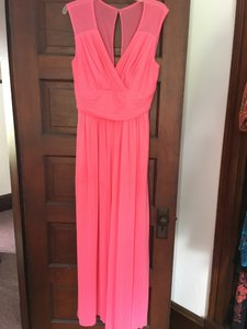Alfred Sung Forever Pink Polyester D693 Formal Bridesmaid/Mob Dress Size 12 (L)