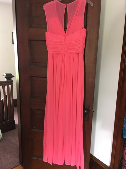 Alfred Sung Forever Pink Polyester D693 Formal Bridesmaid/Mob Dress Size 12 (L) Image 1