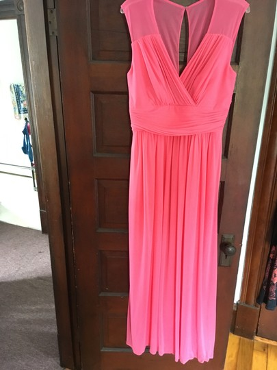 Alfred Sung Forever Pink Polyester D693 Formal Bridesmaid/Mob Dress Size 12 (L) Image 3
