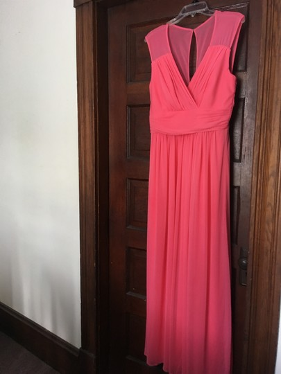 Alfred Sung Forever Pink Polyester D693 Formal Bridesmaid/Mob Dress Size 12 (L) Image 4