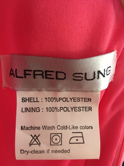Alfred Sung Forever Pink Polyester D693 Formal Bridesmaid/Mob Dress Size 12 (L) Image 5