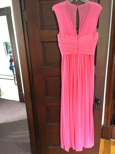 Alfred Sung Forever Pink Polyester D693 Formal Bridesmaid/Mob Dress Size 12 (L) Image 6