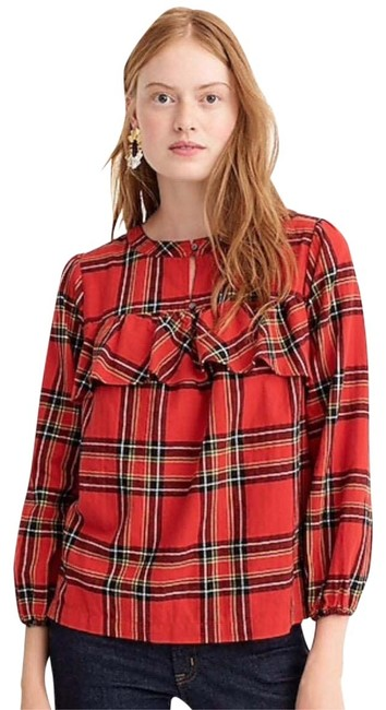 Preload https://img-static.tradesy.com/item/25328888/jcrew-red-timeless-button-down-top-size-4-s-0-1-650-650.jpg