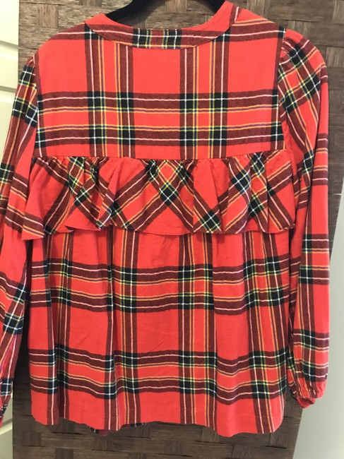 J.Crew Check Flannel Button Down Shirt Red Image 2