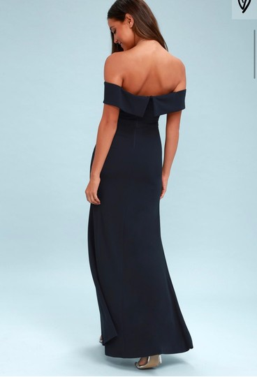 Lulu*s Navy Blue Song Of Formal Bridesmaid/Mob Dress Size 8 (M) Image 2