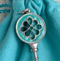 Tiffany & Co. Silver Blue Enamel Round Knot 2
