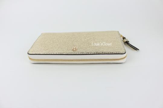 Tory Burch Crinkle Metallic Zip Continental Wallet Image 2
