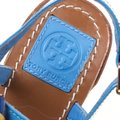 Tory Burch Patent Leather Beaded Blue Sandals Image 6