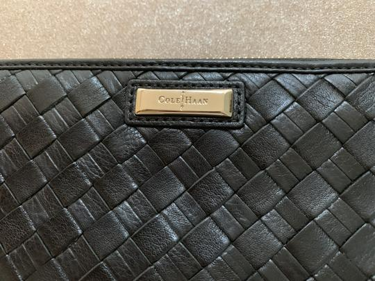 Cole Haan Cole Haan BlackWoven Leather Wallet Image 2