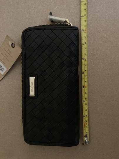 Cole Haan Cole Haan BlackWoven Leather Wallet Image 8