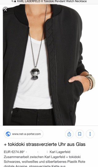 Karl Lagerfeld figure chain necklace watch Image 5