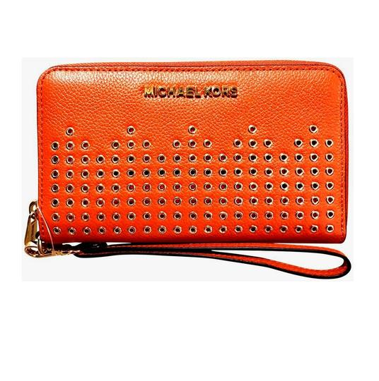 Preload https://img-static.tradesy.com/item/25329156/michael-kors-persimmon-hayes-lg-flat-mf-phone-case-wristlet-wallet-0-0-540-540.jpg