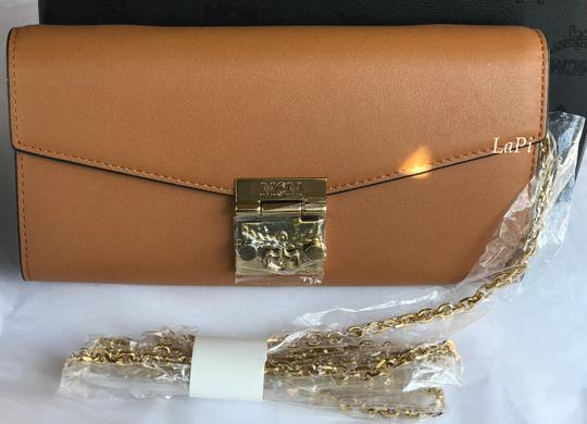 MCM Tote Chain Wallet Stud Leather Cross Body Bag Image 11