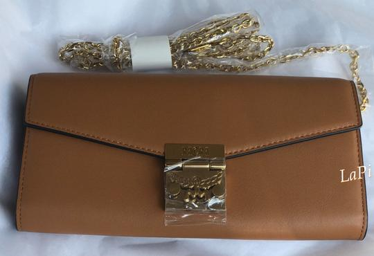MCM Tote Chain Wallet Stud Leather Cross Body Bag Image 6