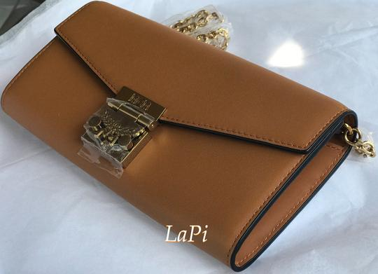MCM Tote Chain Wallet Stud Leather Cross Body Bag Image 7