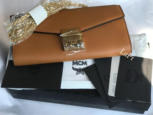 MCM Tote Chain Wallet Stud Leather Cross Body Bag Image 9