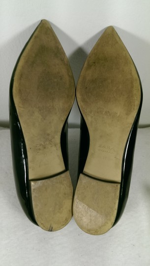 Zara Patent Leather Pump Gold BLACK W/GOLDEN ACCENTS Flats Image 11