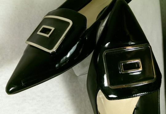 Zara Patent Leather Pump Gold BLACK W/GOLDEN ACCENTS Flats Image 3