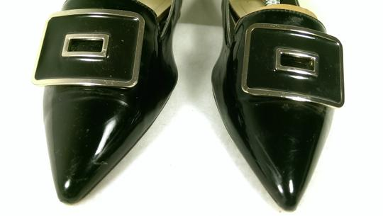 Zara Patent Leather Pump Gold BLACK W/GOLDEN ACCENTS Flats Image 4