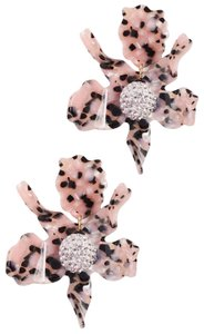 Lele Sadoughi spotted leopard Lily Crystal Drop clip on Earrings