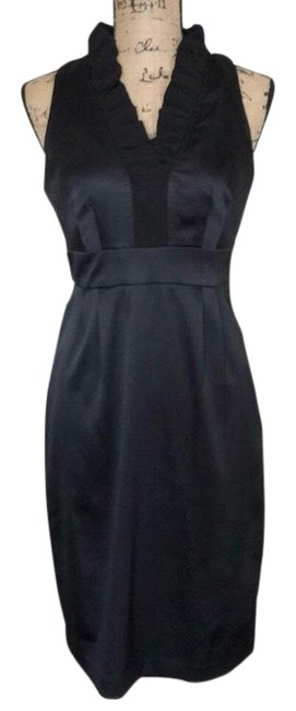 Preload https://img-static.tradesy.com/item/25329226/maggy-london-black-sleeveless-ruffle-mid-length-cocktail-dress-size-6-s-0-1-650-650.jpg