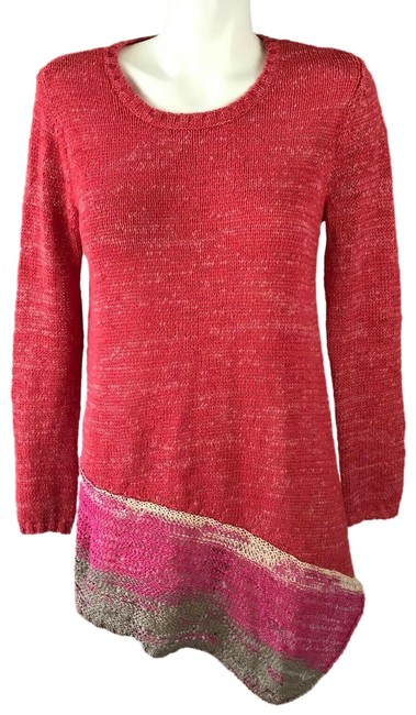 Preload https://img-static.tradesy.com/item/25329277/soft-surroundings-asymmetric-long-sleeve-knit-coral-sweater-0-1-650-650.jpg