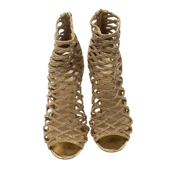 Christian Louboutin Glitter Leather Gold Boots Image 3