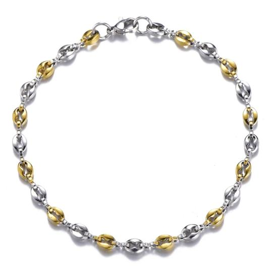 Other TWO TONE GUCCI STYLE LINK 5MM/7.5 INCH WOMEN'S BRACELET Image 1
