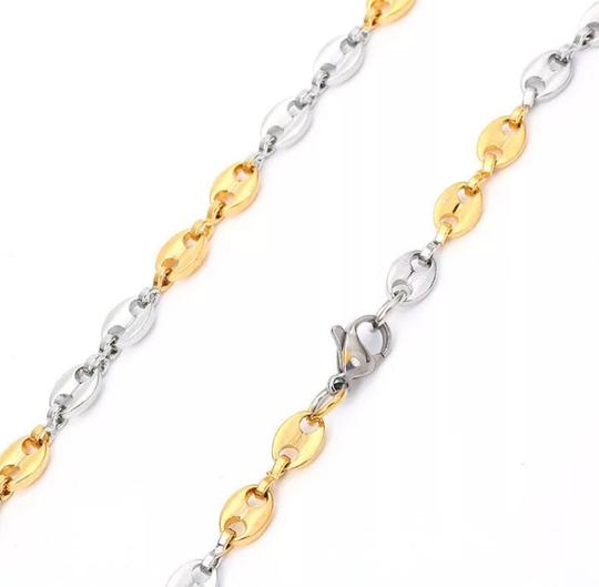 Other TWO TONE GUCCI STYLE LINK 5MM/7.5 INCH WOMEN'S BRACELET Image 2