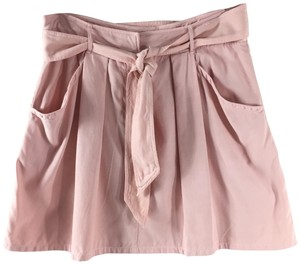 Rebecca Taylor Pleated Silk Casual Comfortable Skirt Pink