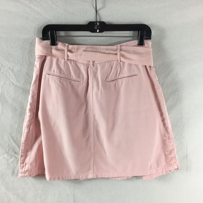 Rebecca Taylor Pleated Silk Casual Comfortable Skirt Pink Image 1